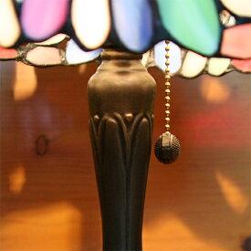 ステンドグラスランプ(ドロップフラワー)中型25×h42cm【照明・スタンド】