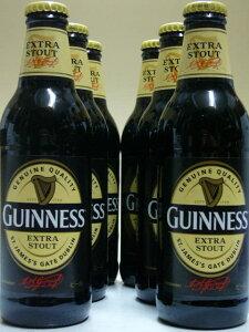 幅広い年齢層で絶大な人気を誇る黒ビールの王様★ギネス・エクストラ・スタウト 330ml 6本組