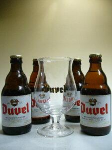 デュベル 8.5度 330ml×4本ビールセット 【デュベル専用グラス1個付】【ビール】【ビア】【B...