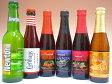 ベルギー・フルーツビール(青りんご・ミックスベリー・チェリー・フランボワーズ・カシス・ピーチ) 6本飲み比べビールセット 【ビール】【ビア】【BEER】【ベルギー】