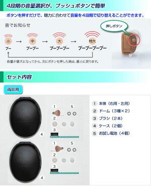 ONKYOオンキョー耳穴式デジタル補聴器OHS-D21両耳用使用後返品可能非課税