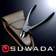 【諏訪田の爪切り】SUWADAニッパー式つめ切りブラック&本牛革ケースセット【特注品】