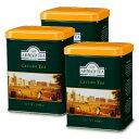 富永貿易 AHMAD TEA 紅茶 セイロン リーフティー200g × 3個 缶《あす楽》