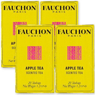 FAUCHON 紅茶アップル 1.7g×20袋 4箱 ティーバッグ [クラシックライン]【フォション フォーション 紅茶 フレーバリーティー ティーパック TB エスビー食品】《》
