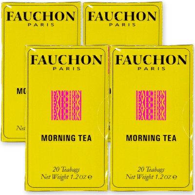 FAUCHON 紅茶モーニング (1.7g×20袋)× 4箱 ティーバッグ [クラシックライン]【フォション フォーション 紅茶 フレーバリーティー ティーパック TB エスビー食品】《》