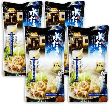 トリゼンフーズ 博多華味鳥 水たきスープ 600g × 4袋 《あす楽》