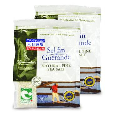 《送料無料》ゲランドの塩 セル ファン 細粒 500g × 2個《あす楽》