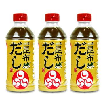 福山醸造 トモエ 日高昆布だし彩り500ml × 3個《あす楽》