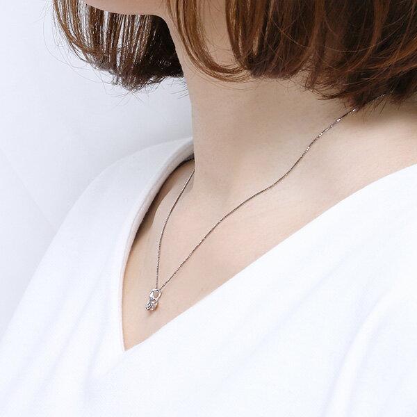 【SALE】 プラチナ鑑定書付ダイヤモンドネックレス(0.5カラット)