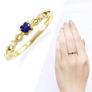 ポイント イエローゴールドサファイア・ダイヤモンドリング ダイヤモンド