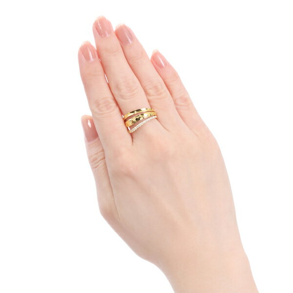 ポイント10倍! ~6/3(月)9:59までK18イエローゴールドダイヤモンドリング
