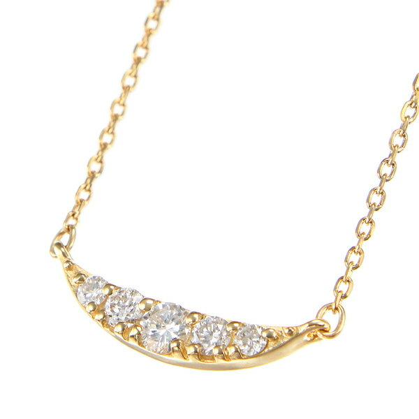 K18イエローゴールドダイヤモンドネックレス