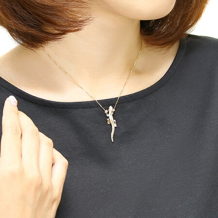 K18ダイヤモンドオニキスネックレス【合計0.3カラット】