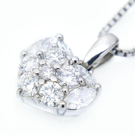 K18ホワイトゴールドダイヤモンドネックレス