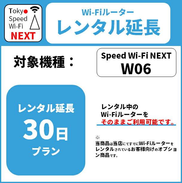 【レンタル】30日延長プラン WiMAX W06専用
