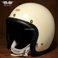スーパーマグナムメイプルグローヴィンテージレザートリムスモールジェットヘルメットブラックレザーSG/DOT規格品