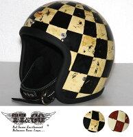 装飾用ヘルメット500-TXディストーションホールチェッカーズスモールジェットヘルメットXS,S,ML,XLXXL