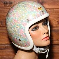 装飾用ヘルメット500-TXクリアシェルリバティーフラワー03スモールジェットヘルメットXS,S,ML,XLXXL