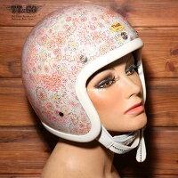 装飾用ヘルメット500-TXクリアシェルリバティーフラワー01スモールジェットヘルメットXS,S,ML,XLXXL