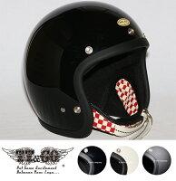 スーパーマグナムダブルストラップ仕様レッドチェッカースモールジェットヘルメットSG/DOT規格品
