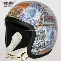 装飾用ヘルメット500-TXクリアシェルCherry'sCompanyxTT&CO.30個限定スモールジェットヘルメットXS,S,ML,XLXXL