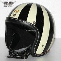 スーパーマグナムナイナーズブラックレザースモールジェットヘルメットSG/DOT規格