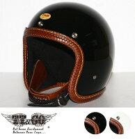 装飾用ヘルメット500-TXレザーリムショットバスケットブラウンレザースモールジェットヘルメットXS,S,ML,XLXXL