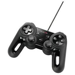 エレコム [JC-U4013SBK] USBゲームパッド/13ボタン/Xinput/振動/連射/高耐久/ブラック