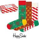 ハッピーソックス 靴下 Happy Socks メンズ レディースソックス 3足セット GIFT B ...