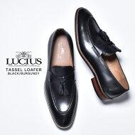 革靴メンズ本革カジュアルローファーおしゃれタッセルローファーカジュアルシューズUチップモカシンビジネスシューズビジネススリッポンレザーブランドLUCIUSルシウスドレスシューズ皮靴スーツ紳士靴ブラック黒ブラウン茶色2020春夏