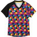 【1枚までメール便可】[Nittaku]ニッタクゲームシャツ(ジュニアから大人まで)スカイオーロラシャツ(NW-2183)(21)ピンク