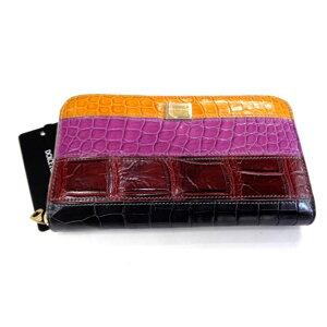 New Dolce & Gabbana Round zipper wallet Dolgaba plate Croco Multi 8 [Kanto]