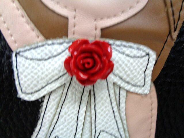 新品 ドルチェ&ガッバーナ 大型レザートートバッグ ワッペン 刺繍 ブラック