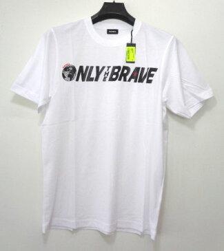 メンズ ディーゼル ボックスロゴ Tシャツ ホワイト M