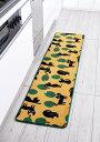 【45×180cm】ふっくら キッチンマット ねこちゃんマーチ ネコ ...