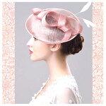 トーク帽/ピンク/髪飾り/ヘアアクセ/フォーマル/結婚式/ヘッドドレス