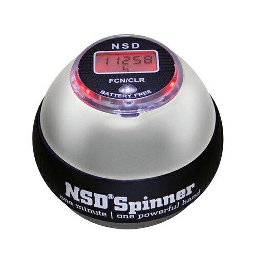 NSDスピナー PB-588C シルバー メタリックボディ 重量400g アスリート向け カウンター搭載 日本正規代理店商品 手首の運動 NSD Spinner