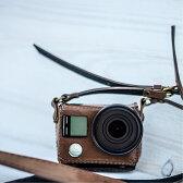 GoPro ゴープロ ウェアラブルカメラ HERO4 シルバーエディション アドベンチャー CHDHY-401-JP 専用レザーケース ブラウン