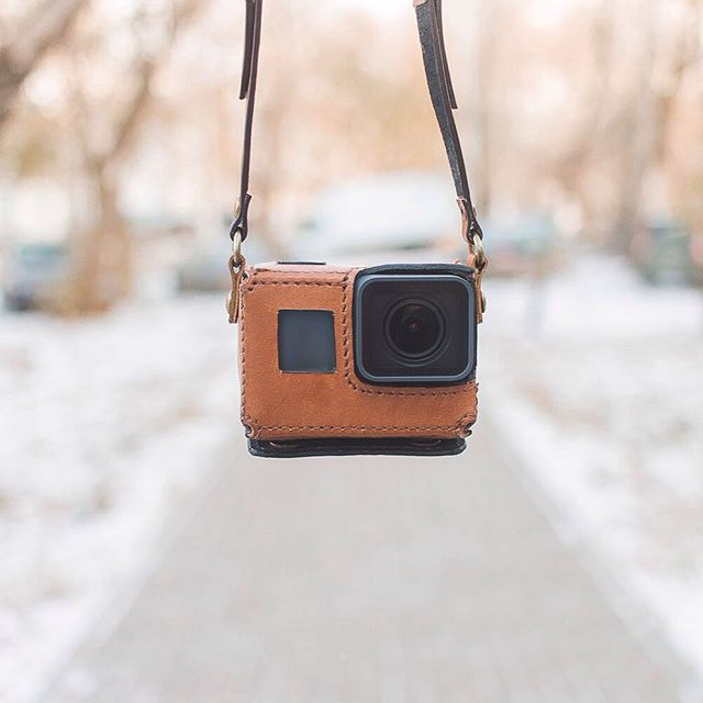 GoPro ゴープロ アクセ ウェアラブルカメラ HERO5 専用レザーケース ブラウン