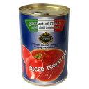 TUCANO 楽天市場店で買える「完熟カットトマト 400g (固形量240g トマト・ジュースづけ(立方体)」の画像です。価格は113円になります。