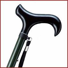 杖 ステッキ 折りたたみ おしゃれ 折りたたみ 長さ調節可 カーボンシリーズ 色 グリーン ホスピア 愛杖【送料無料】