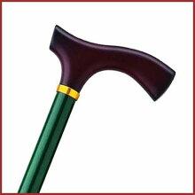 杖 ステッキ 折りたたみ おしゃれ 折りたたみ 長さ調節可 アルミ製 色 メタリック グリーン ホスピア 愛杖 Eシリーズ