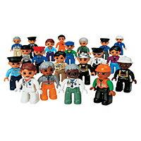 性別、年齢、人種の異なる、お医者さんや警官など20種類の職業の人形が入っています。[P10倍 3/...