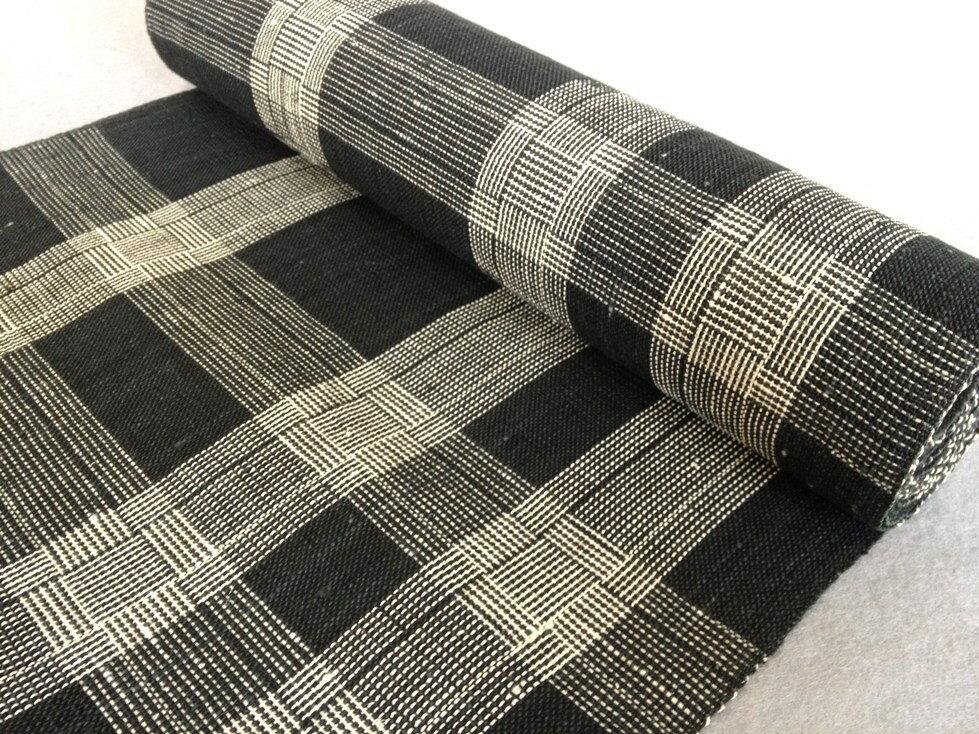 八寸なごや帯 紙布手織り・全通和紙/おしゃれ八寸帯・格子