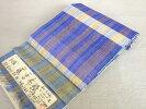 【えぞ織】八寸帯六通手織り左藤房子作