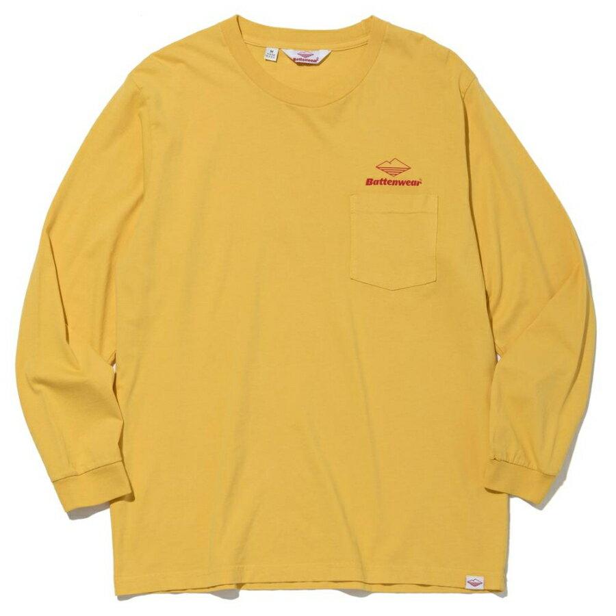 トップス, Tシャツ・カットソー BATTENWEAR() T TEAM LS POCKET TEE - MUSTARD 85021 t96