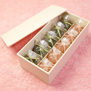 【全国送料無料】恋桜(こいざくら)5個・くずまんじゅう(抹茶)5個木箱入