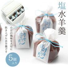 塩水羊羹5個入『水羊羹』京都和菓子涼菓羊羹逸品こだわり人気こしあん