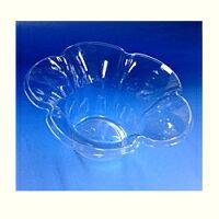 [業務用]ミニフルール(フラワーカップ)花型(透明)のかわいい・おしゃれなカップ(コップ)業務用/激安の使い捨て食品容器(食品用/容器/器/うつわ/入れ物/包材)パーティー・イベント(学園祭/お祭り/おまつり)の氷カップ/かき氷コップ/デザートカップに