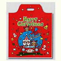 [業務用]クリスマス ハンディバックMドライブサンタR 100枚クリスマスのプレゼントやお菓子のラッピングに。ビニール製の買い物袋(レジ袋/レジバック) 激安の包装用品(袋/化成品/ポリ袋/手提げ袋/手提げバック/手さげバック/手さげ袋/手提げ袋/手提げ袋)